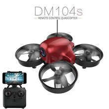 RC Mini Drone DM104s 2.4G 4CH Helicopter Quadcopte With Real Time Video Camera Wifi FPV Set High Mode Drones(China)