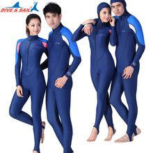 DIVE&SAIL skin dive jumpsuit Lycra one-piece wetsuit Anti jellyfish anti-skidding wet suit for swimming diving rashguard upf50(China)