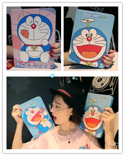 Tablet Protective Case For Apple ipad air 1 2 /  3D Cartoon Cute Hands On Face Doraemon pattern Case Silicon Back Cover