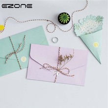 EZONE Fresh Envelope And Flowers Letter Paper Sample Style Candy Color Message Card Letter School Stationary Storage Paper Gift(China)