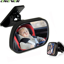 1Pcs Mini Car Back Seat Baby View Mirror 2 in 1 Baby Rear Convex Mirror Adjustable Car Baby Kids Monitor Safety Reverse Safety