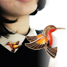 LNRRABC Upmarket Exquisite Alloy Oil Drip Bird Shape Vintage Personalized Brooches Fashion Jewelry