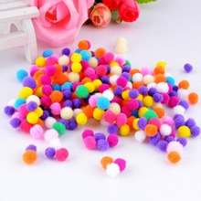 Free shipping-500pcs/lot Small Multicolour DIY Decoration Ball 8mm Fur Ball Pompon Home Decor Decorative Flowers Crafts(China)