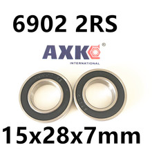 2017 Rushed Hot Sale Best Price! 10 Pcs 6902 2rs Deep Groove Ball Bearing,bearing Steel 15x28x7 Mm(China)