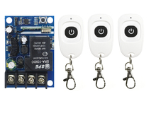 DC 12V 24V 48V 10 A 1 Channel RF Wireless Remote Control 1 Receiver & 3 Transmitter learning code(China)