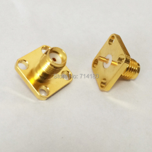 RF SMA Female Chassis Panel Mount 4-hole flange RF Connectors Wholesale Fast Shipping