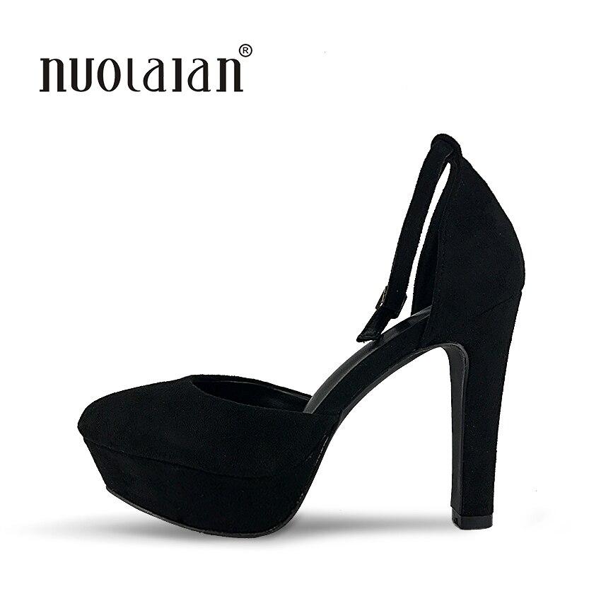 Brand Shoes Woman High Heels Pumps Platform High Heels 12CM Women Shoes High Heels Wedding Shoes Pumps Black Shoes Heels<br>