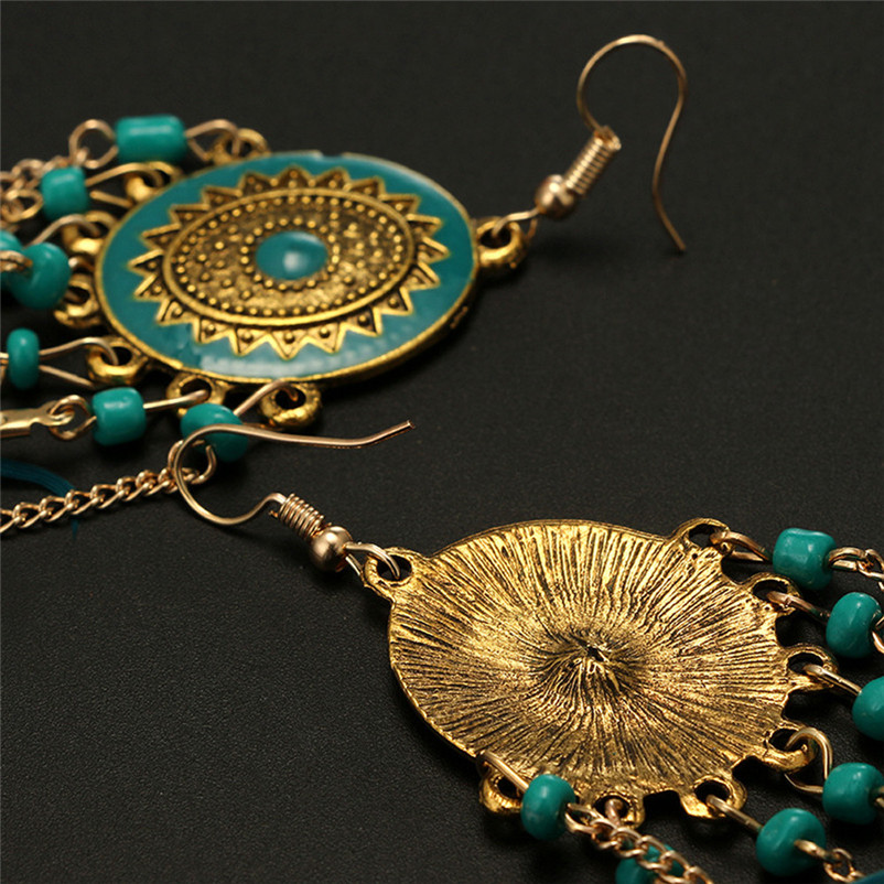 2018 Trendry Earrings for Women Vintage Women Bohemian Fashion Weave Tassel Earrings Long Drop Earrings Jewelry Brincos J05#N (5)