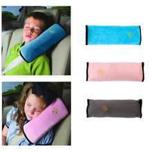 Baby Pillow Kids Shoulder Pad Cover Car Auto Safety Seat Belt Harness Children Head Protection Covers Anti Roll Pillow Cushion(China)