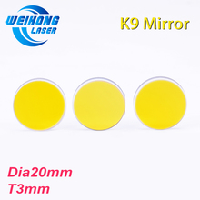 High Quality Diameter 20mm K9 CO2 Laser Reflection Mirror Glass Material with Golden Coating for K40/3020 Mini Co2 laser Machine