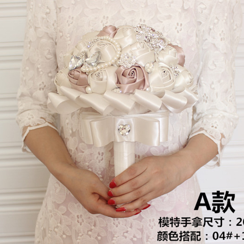 Bridal Bouquets Diameter 20cm Express ship Wedding flower Gorgeous Beaded Crystal Artificial Sapphire Rose Bridesmaid Pearl new(China (Mainland))