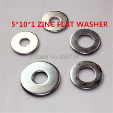 1000pcs m5*10*1 steel with white zinc coated flat washer flat shim flat gasket flat cushion ring
