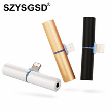 SZYSGSD For Lightning to 3.5mm Jack 2 in 1 Charging Audio Adapter Earphone Headphone Audio Converter for Apple iPhone 8 7 7 Plus(China)