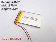 best battery brand 3.7V 403759 1100mAh Lithium Polymer Li-Po Rechargeable DIY Battery For Mp3 MP4 MP5 GPS PSP mobile electronic