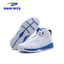 Deerway Brand Basketball Shoes For Men 2017 Winter Breathable Outdoor White Jordan Sneakers Sport Shoes Men Basketball Shoes New