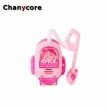 Chanycore Cute dollhouse furniture Toys for girls Vacuum cleaner Emulational Pink Sounding Toys Baby Girls Play Toy Gifts(China)