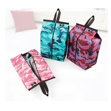 4 Colors Portable Camouflage Waterproof  Hook Travel Pouch Shoe Wash Bag Zipper Folding Home Tote Gym Storage Bag Organizer