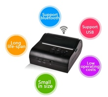Free Shipping Mini portable 2 in 1 USB Bluetooth Wireless 80MM Thermal Thermic Receipt Printer Android Mobile PC Compatible