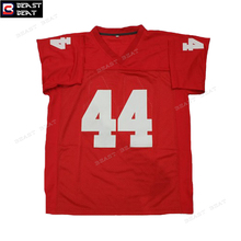 Forrest Gump #44 American Football Jersey Stitched Tom Hanks Movie Red Mens Cheap Throwback futebol americano Jerseys