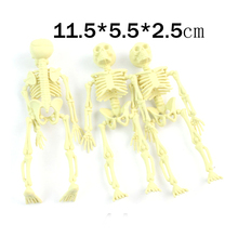 100pcs/lot halloween ghost toys Pirate party supplies small skeleton frame,gothic toys for Kids11.5*5.5*2.5CM(China)