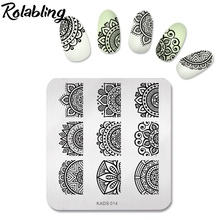 Buy New 1PC Flower Lace Style 7*8cm Nail Art Template Nail Gel Polish Print Nail Stamping Plates DIY Stamping Tool for $2.56 in AliExpress store