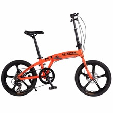 Altruism K1 20 Inch Mountain Bike Aluminum Alloy Road Folding 7 Speed Bisiklet Gears Lightweight City Bicycle Cycling Bicicleta(China)