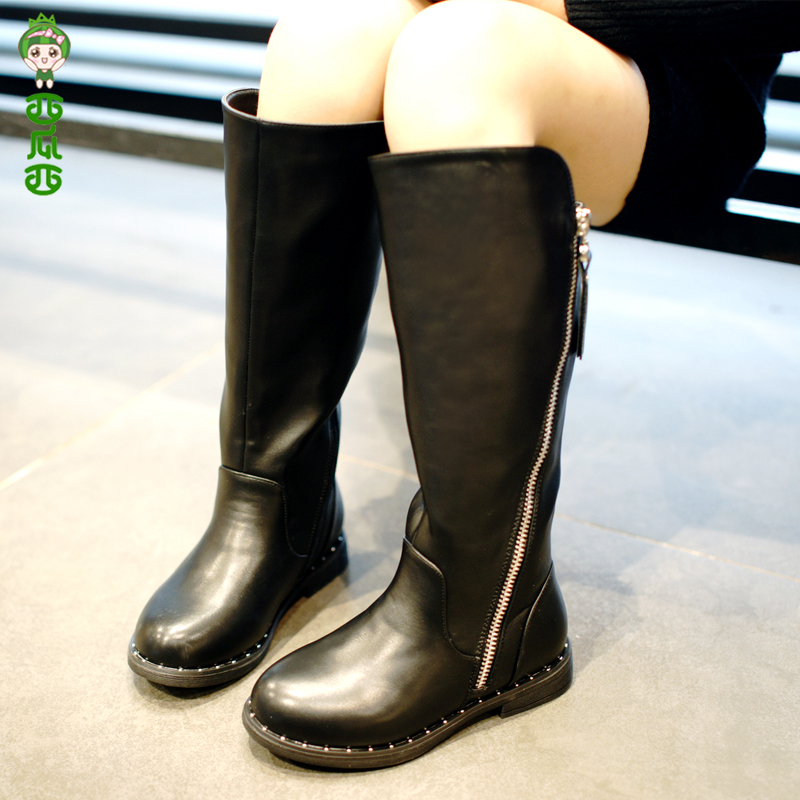 WENDYWU 2017 new winter boots  children Boots Princess Leather shoes high quality  girl shoes Comfortable and beautiful<br>
