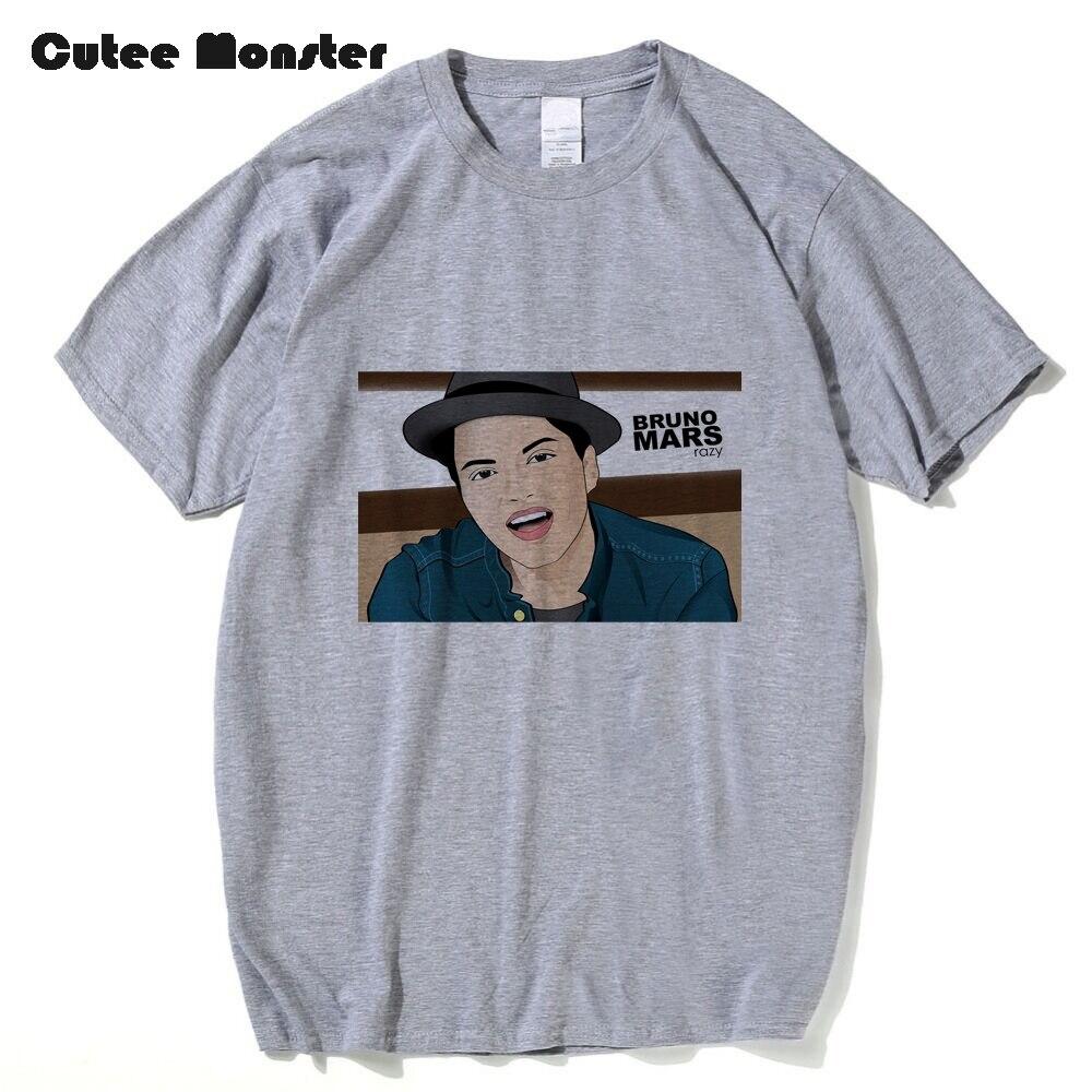 Bruno Mars Razy T-shirt Men American singer songwriter T shirt Women Fans Short Sleeve 100% Cotton Top Clothing Plus Size 3XL