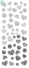 Rocooart DS138 2017 Water Transfer Nails Art Sticker Gray Lace Hearts Element Nail Wrap Sticker Manicura nail art decorations