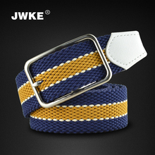 Knitted elastic strap male canvas belt pin buckle fashionable casual waist of trousers belt