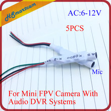 New CCTV High Sensitive Mini Microphone Mic Audio 6-12V DC Power Cable Wide Range cctv microphone For CCTV DVR Cameras Kits