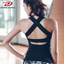 Hot Padded Sexy Backless Yoga Shirts Women Sport Fitness Tops Sleeveless Gym Tank Tops Running Vest Sports Jerseys Clothing