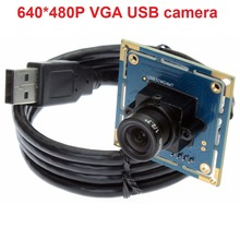 480P HD CMOS OV7725 UVC webcam usb web camera module with 3.6mm lens for android .linux, windows(China)