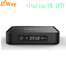 Android 6.0 quad core 2GB 8GB TV Box Bluetooth Media player with European IPTV account Africa EXYU Italy IT DE dutch Arabic code(China)