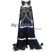 Anime Vocaloid Cosplay Imitation Black Costumes Long High Quality Black Dresses With Cloak Set For Halloween Clothing dress