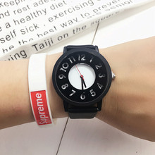 Harajuku style retro personality tide fashion watch men  quartz clock 2016 creative wristwatches high quality leather band hours