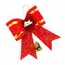 10 Pcs/lot Wholesale Christmas Big Bow Tie Type Xmas Decorations Size11*9 CM Cute Bowknot Christmas Tree Ornament Drop Shipping