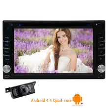 Capacitive Android 5.1 Car DVD Camera In Dash Radio OBD2 2 din FM Touchscreen GPS Stereo WiFi 4-CORE Auto Video PC