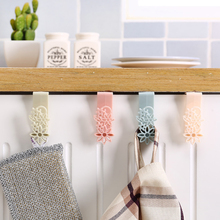 Strong Door Hooks Hanging Hanger Organizer Holder for Hanging Coat Cloth Food in kitchen Home Storage 1PC 4 Colors(China)