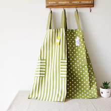 Poly/Cotton Kitchen Apron Printed Unisex Cooking Aprons Avental Dining Room Barbecue Restaurant Pocket Halterneck(China)