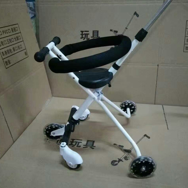 Children\'s Five-Wheeled Baby Anti Rollover Portable Folding Car Mother & Kids Activity & Gear Baby Stroller Lightweight Stroller10