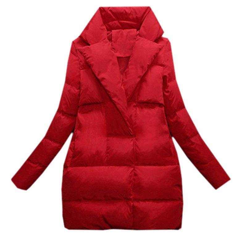 2017 womens slim down coat Autumn winter jacket coat women parka down outerwear medium-long plus size thickening 3XL clothing Одежда и ак�е��уары<br><br><br>Aliexpress