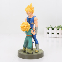 21cm Dragon Ball Z Figure Dramatic Showcase 4th season Super Saiyan Vegeta Trunks PVC Action Figure Model Toy