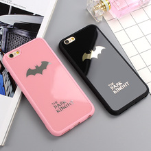 Dark Kinght Batman Cell Phone Cover For iphone 6 6s 7 Plus Mirror Silicon Case For iphone 7 6 6s 8 Plus Phone Cases Shell Coque