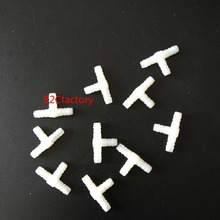20pcs Air Water Plastic TubeT-Shape Connector Pipe Fitting Dental Chair Part