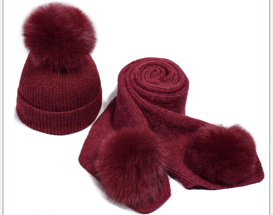 قبعة ووشاح للفتيات 11