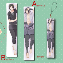 Hot Naruto! Sasuke & Uchiha Itachi Cool Anime Mini Dakimakura Keychain Pillow Hanging Ornament Phone Strap Gift