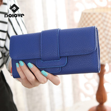 New Arrival 2017 Fashion Vintage  Purse Brand Purse Wallets Women's  Long Wallet Clutch Women's Leisure Hasp Dollar Wallet Hand