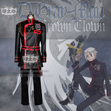 Anime D.Gray Man Allen Walker Black Fashion Uniform Party Cosplay Costume Coat+Pants+Blet(China)