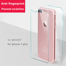 2Pcs/Lot Front And Back Tempered Glass For iPhone 4 4S 5 5S 6 6s 7 8Plus Screen Protector Film 9H Full Body Glass On the iPhone(China)